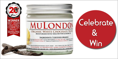 MuLondon's deliciously fragranced, cruelty-free and vegan Organic White Chocolate Truffle Moisturiser has been chosen as the winner of the 20th anniversary Viva! Award.